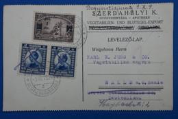 R11 YOUGOSLAVIE BELLE CARTE TIMBRE PERFORATED 1924  POUR L ALLEMAGNE+ PERFORé + AFFRANCH PLAISANT - Briefe U. Dokumente