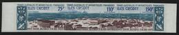 TAAF 1974 - Mi-Nr. 89-91 U ** - MNH - Ungez / Imp - Antarktisstation - Sin Dentar, Pruebas De Impresión Y Variedades
