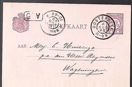 Grootrond OOSTERBEEK 1898 > Huizinga Wageningen (GC-69)) - Poststempel