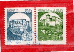 Italia ° - Anno 1985 - CASTELLI D'ITALIA. Lire 50+450. Unif. 1737-1738. Usato. - 1981-90: Oblitérés