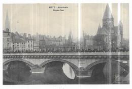 Metz Mittelbrucke Moyen-Pont Tramway Cavaliers Allemands - Metz