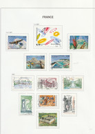 France    .   10 Pages Avec Timbres        .       O    .     Oblitéré    .     /   .   Cancelled - Used Stamps