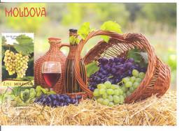 2018  MOLDOVA ,  MOLDAVIE ,  MOLDAU  ,  National Wine Day , Vine , Vino , Grapes , Maxicard , Special Cancell - Vini E Alcolici