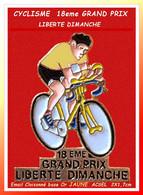 "PIN'S CYCLISME Peu Courant : Version Email Cloisonné Base Or, MAILLOT ""JAUNE"" 1eme GRAND PRIX LIBERTE DIMANCHE 2X1,7cm - Ciclismo"