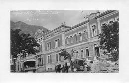 """2126 """"FOTOGRAFIA-ARSIERO (VI) MUNICIPIO CON AUTOAMBULANZA LUGLIO 1916.I.G.M. """" MISURE(10.50x16.50) - Guerre, Militaire"""
