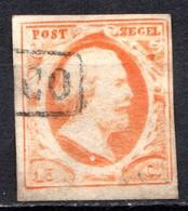 PAYS-BAS - (Royaume) - 1852 - N° 3 - 15 C. Orange - (Guillaume III) - Gebraucht