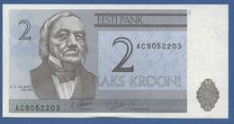 ESTONIA - P.70a – 2 Krooni 1992 - AUNC - Estonia