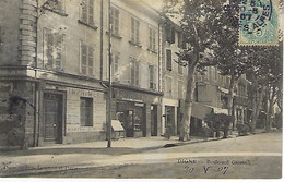 FRANCE - Vue Assez RARE - DIGNE - Boulevard Gassendi - 1907 - Digne