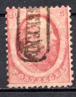 PAYS-BAS - (Royaume) - 1864 - N° 5 - 10 C. Rose Carminé - (Guillaume III) - Oblitérés