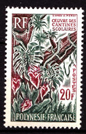 POLYNESIE - 35 - 20F Cantines Scolaires - Neuf N** - Très Beau - Unused Stamps