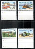 Mauritius 856 - 859 Mnh ** Auto Car Voiture Transport Bus Schiff Bahn Ship Train - Maurice (1968-...)