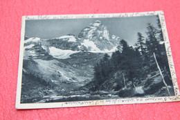 Aosta Cervinia Breuil Il Cervino 1943 + Timbro Censura Della Commissione Provinciale - Otras Ciudades