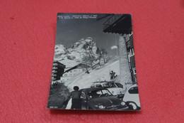 Aosta Cervinia Breuil Rifugio Pirovano 1963 + Auto Fiat 500 - Otras Ciudades
