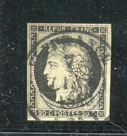 Rare N° 3 Moyen Cachet à Date Type 14 De Fleurance ( Gers ) Du 7 Janvier 1849 - 1849-1850 Ceres