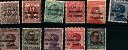 39974) TRENTO E TRIESTE-Serie Ordinarie Sovrastampati In Centesimi Di Corona - 1919- SERIE COMPLETA MLH* - Andere