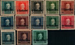 39981) OCCUPAZIONI STRANIERE DI TERRITORI ITALIANI-Posta Militare Austro-ungarica - 1 Giugno 1918 -13 VALORI  MLH* - Andere