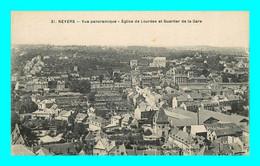 A895 / 017 58 - NEVERS Vue Panoramique Eglise De Lourdes Et Quartier De La Gare - Nevers