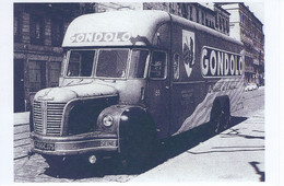 Camion Berliet Avec Publicitaire Pour Les Biscuits 'GONDOLO'    -  15x10cms  PHOTO - Camions & Poids Lourds