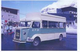Autobus V.F.D. Citroen H/HY Aux Alpes D'Huez En 1974 -  15x10cms  PHOTO - Autobus & Pullman