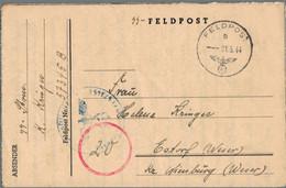 1944 SS-Feldpost M. Kontollstempel - Officials