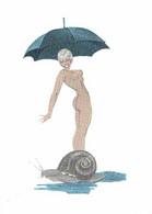 Jacques Charpentier Marlène Femme De ZIZI L'escargot  Femme Nue Parapluie Escargot  RV 150 Ex - Mujeres