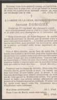 ABL, Antoine Dobigies , Né à Bouvignies Le 13 Décembre 1891, Mort à Impe (Alost ) Le 24 Août 1914 - Obituary Notices