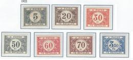 COB  TX34 + 35 + 39 + 40 + 41 + 48 + 34a + 43a   (MNH)  + TX32 (MH) - Stamps