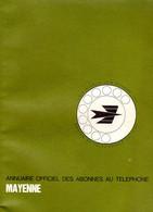 ANNUAIRE - 53 - Département Mayenne - Année 1975 - Annuaire Officiel Des Postes - 184 Pages - Telephone Directories