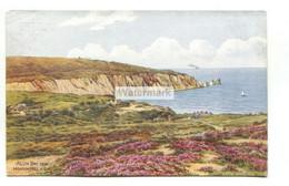 A R Quinton Postcard No. 3777 - Quinton - Alum Bay From Headon Hill - C1940's - Quinton, AR