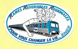 AUTOCOLLANT SPORT - SNCF PICARDIE - RAMES REVERSIBLES REGIONALES POUR VOUS CHANGER LA VIE - Stickers