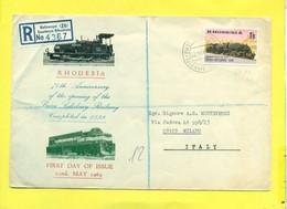 TRASPORTI- TRENI -  FDC -RHODESIA - Zimbabwe (1980-...)