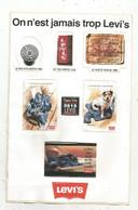 Autocollant , LEVI'S , On N'est Jamais Trop Levi's , PLANCHE DE 8 AUTOCOLLANTS , Frais Fr 1.95 E - Stickers