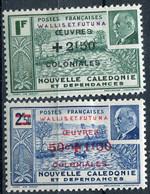 WALLIS ET FUTUNA ( POSTE ) : Y&T  N°  131/132  TIMBRES  NEUFS  AVEC  TRACE  DE CHARNIERE . A  SAISIR . - Unused Stamps