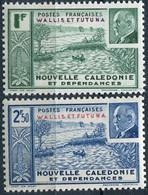 WALLIS ET FUTUNA ( POSTE ) : Y&T  N°  90/91  TIMBRES  NEUFS  AVEC  TRACE  DE CHARNIERE . A  SAISIR . - Unused Stamps