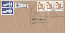Zimbabwe Registered Cover Sent To Germany Shurugwi 16-1-1991 - Zimbabwe (1980-...)