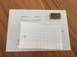 """Lettre Avec Oblitération Mécanique Sur Timbre """"CULTURES MARAÎCHÈRES SEINE MARITIME"""" - Storia Postale"""