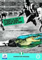 "► FOOTBALL - NIGERIA Crocodile  - Coupe Du Monde (1998 World Cup) Série RATP ""Animation Cliché"" FRANCE 98 - Soccer"