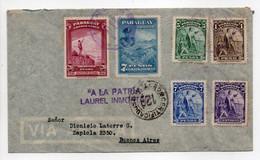 - Lettre Recommandée Censurée PARAGUAY Pour BUENOS AIRES (Argentine) 15.8.1948 - Bel Affranchissement Philatélique - - Paraguay