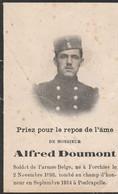 ABL, Alfred Doumont , Né à Forchies Le 2 Novembre 1898 , Tombé Au Champ D'honneur En Septembre 1914 à Poelcapelle - Obituary Notices