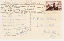 France, De BARR Rbv  En 1950 Visitez Barr Le Mont Ste Odile  Sur Ch Peguy    T B - Annullamenti Meccanici (pubblicitari)