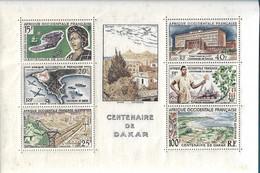 "AOF - Bloc N°1** - "" Centenaire De Dakar"" SUP - - Unused Stamps"