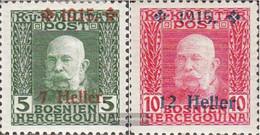 Austria.-Bosnia-herzegovina. 93-94 (complete Issue) With Hinge 1915 Franz Joseph - Nuovi