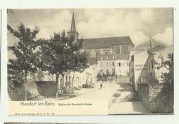 LUXEMBOURG - MONDORF LES BAINS - Eglise De Mondorf Village Petite Animation Magasin Chaussures Bon état - Mondorf-les-Bains