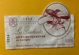 19332 - Cyrano De Bergerac Les Bacchantes Gewurztraminer De Lavigny 1999 - Moustaches