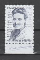 FRANCE / 2021 / Y&T N° 5474 ** : Simone De Beauvoir X 1 BdF Bas - Neufs