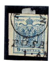 AUTRICHE-Empire ( Y&T) 1850 - N°5d  *Papier Vergé Horizontale *    9k  (obli) - Used Stamps
