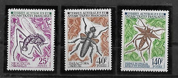 TAAF FSAT. Yt N° 40-42 Insectes 1971 - Unused Stamps