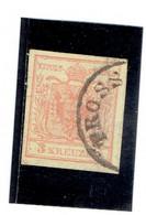 AUTRICHE-Empire ( Y&T) 1850 - N°3a  *Papier épais*    3k  (obli) TROSS - Used Stamps
