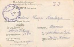 COURRIER 07/1942 PRISONNIER KEMPA TADEUSZ STALAG 325  MORT A AUSCHWITZ  LE 12/06/1944 ENVOYEE A SA FEMME A CHEVENNES - Covers & Documents