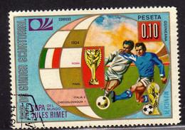 GUINEA EQUATORIAL ECUATORIAL EQUATORIALE 1974 MUNICH WORLD CUP SOCCER 1934 FINAL COPA RIMET 0.10p USED USATO OBLITERE' - Equatorial Guinea